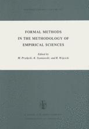 Formal Methods in the Methodology of Empirical Sciences