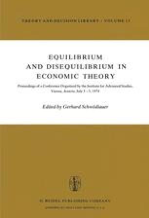 Equilibrium and Disequilibrium in Economic Theory