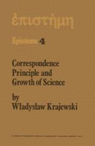 Correspondence Principle and Growth of Science