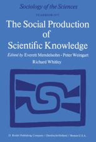 The social construction of science institutionalisation and the social production of scientific knowledge fandeluxe Choice Image