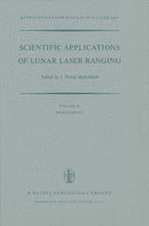 Scientific Applications of Lunar Laser Ranging