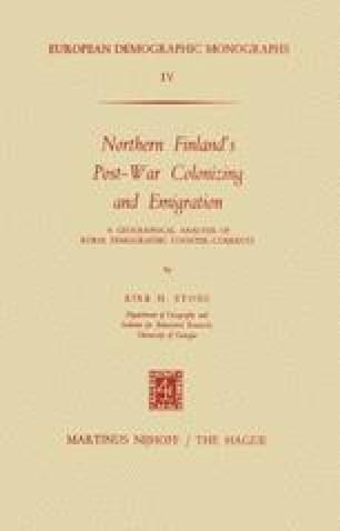 Northern Finnish Post War Colonizing Springerlink