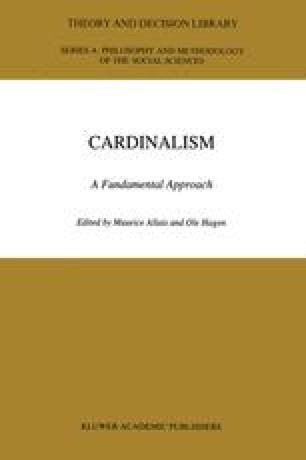 cardinalist and ordinalist approach