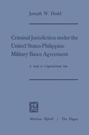 Criminal Jurisdiction Under The Military Bases Agreement Of 1947