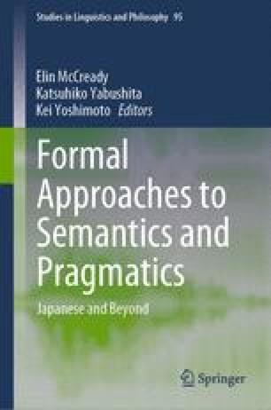 Formal Approaches to Semantics and Pragmatics
