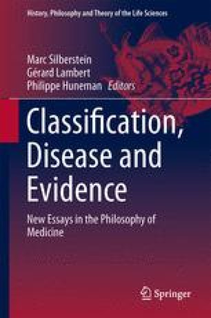 Classification, Disease and Evidence