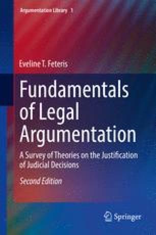 The Logical Approach of Legal Argumentation | SpringerLink