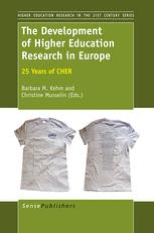 The Development of Higher Education Research in Europe