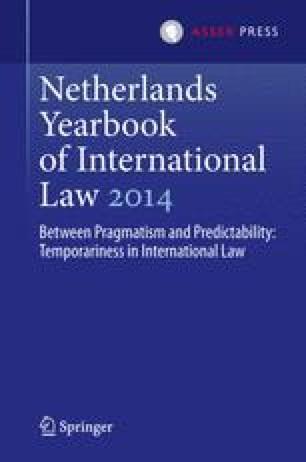 Netherlands Yearbook of International Law 2014