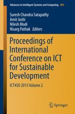 Proceedings of International Conference on ICT for Sustainable Development