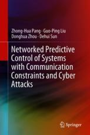 Networked Predictive Control of Systems with Communication Constraints and Cyber Attacks