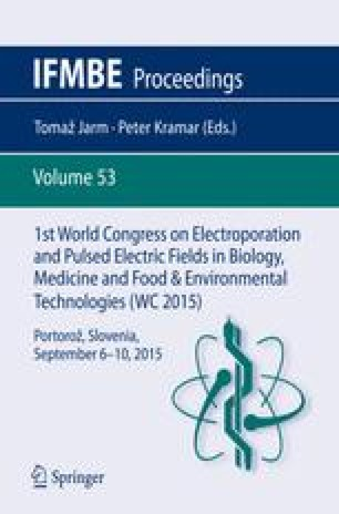 1st World Congress on Electroporation and Pulsed Electric Fields in Biology, Medicine and Food & Environmental Technologies