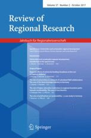 Regional effects of university funding: Excellence at the