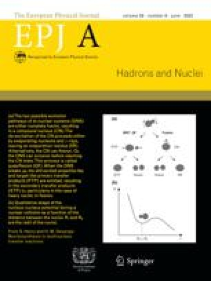 The European Physical Journal A - Hadrons and Nuclei
