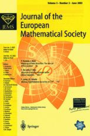 Journal of the European Mathematical Society