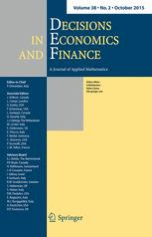 Decisions in Economics and Finance