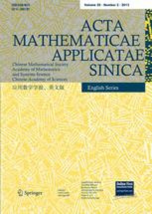 Acta Mathematicae Applicatae Sinica