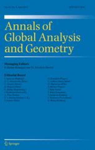 Annals of Global Analysis and Geometry - Springer