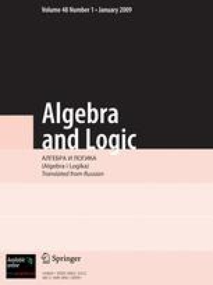 Algebra and Logic