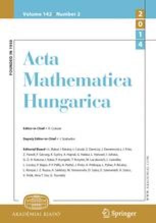 Acta Mathematica Academiae Scientiarum Hungarica