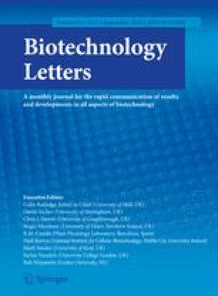 Biotechnology Letters