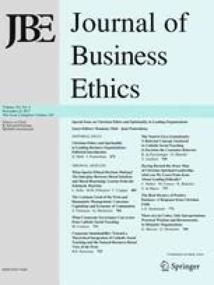 Christian Ethics and Spirituality in Leading Business Organizations