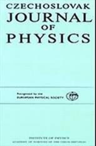 Czechoslovak Journal of Physics B