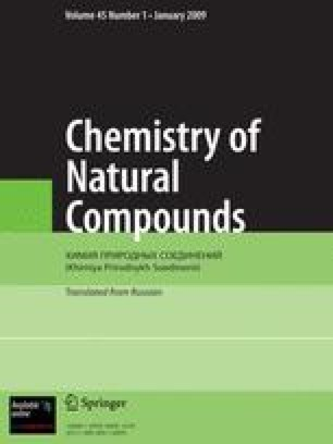 Chemistry of Natural Compounds