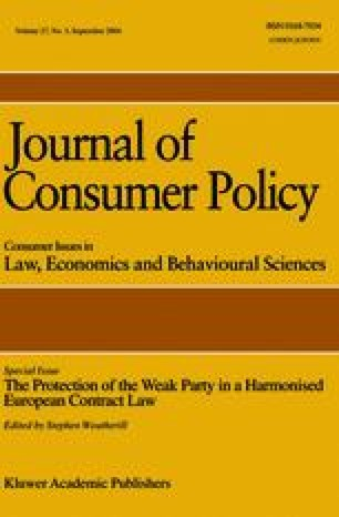 Journal of Consumer Policy - Springer