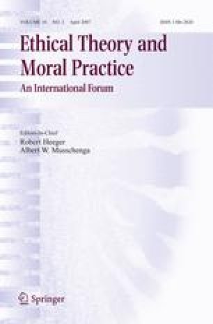 Ethical Theory And Moral Practice Springer