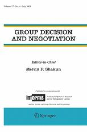 The Effects of Framing on Inter-group Negotiation | SpringerLink