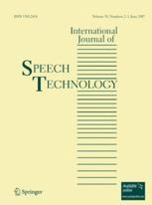International Journal of Speech Technology