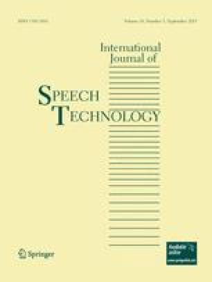 International Journal of Speech Technology