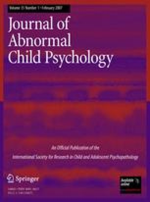 Journal Of Abnormal Child Psychology Springer