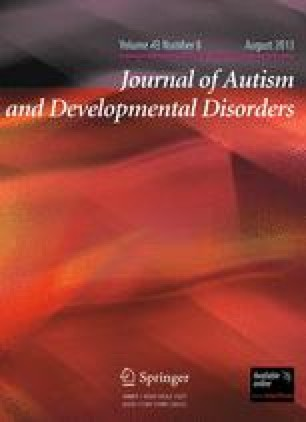 Journal of Autism and Developmental Disorders - Springer
