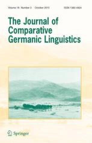 the germanic languages harbert wayne