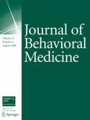 Journal of Behavioral Medicine