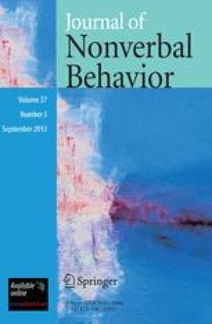 Journal of Nonverbal Behavior