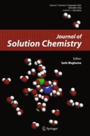 Journal of Solution Chemistry