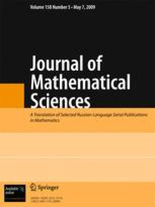 Journal of Mathematical Sciences - Springer