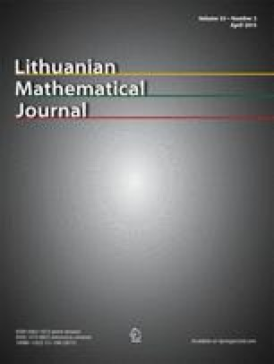 Lithuanian Mathematical Journal
