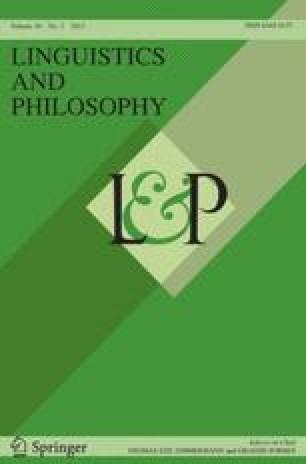 Linguistics and Philosophy