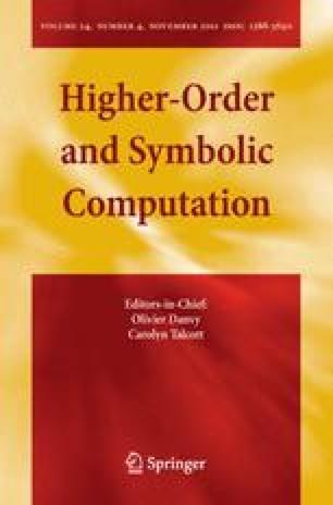 Higher-Order and Symbolic Computation