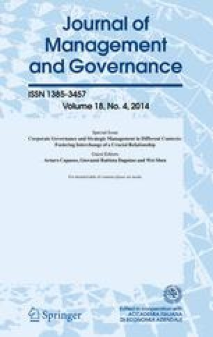 Journal of Management and Governance - Springer
