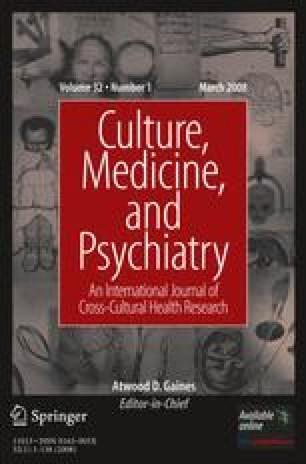 Culture, Medicine and Psychiatry
