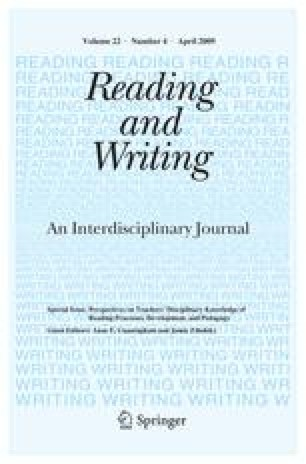 Knowledge foundations for teaching reading and spelling
