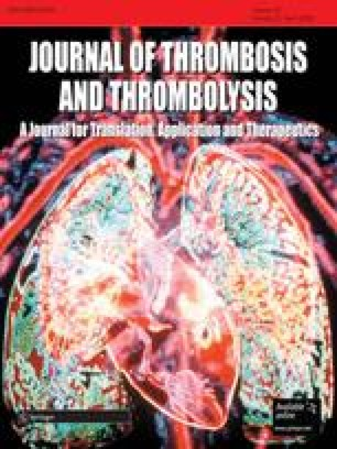 Journal of Thrombosis and Thrombolysis