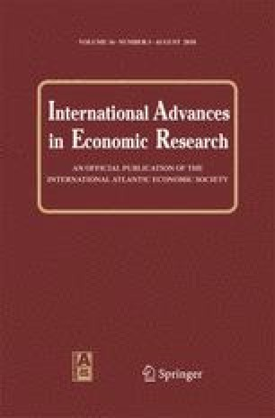 International Advances in Economic Research