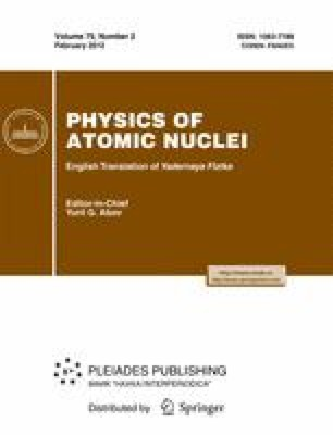 Physics of Atomic Nuclei - Springer