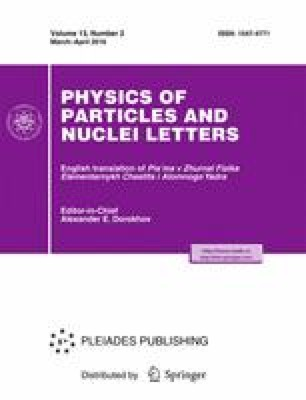 Physics of Particles and Nuclei Letters